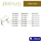 Office Desk Uno Platinum Series 2