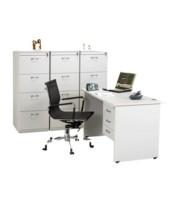 """Meja Kantor Aditech SS 6012 + 3 Laci gantung (120cm)"""