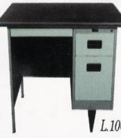 """Meja Kantor Besi Berikut Laci type L-106"""