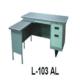 """""""Meja Kantor Besi Dengan Laci + Meja Samping type L-103 AL"""""""